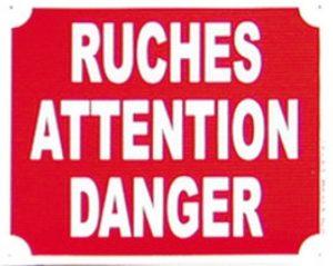 "Pancarte  Ruches, Attention danger ""2D"""