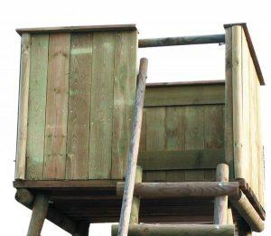 Option bardage bois pour mirador d'affût déplaçable