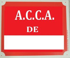 """Pancarte  A.C.C.A.de ...  """"2B"""""""