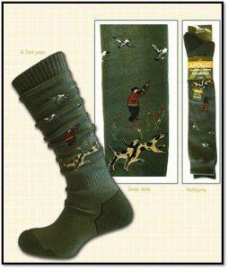 Chaussettes hautes, motifs chasse