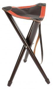 Trépied bois, assise bicolore