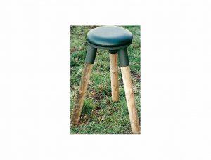 Coussin tournant pour tabouret bois métal