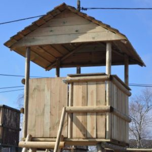 Option Cabine Sologne toit double pente