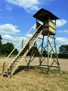 Option Escalier de meunier pour mirador d'affût et mirador de battue