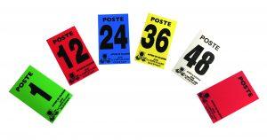 Numéros de poste en plastique souple.