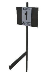 Piquets de poste (métallique)